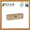 Made in China handmade unfinished DIY educational cheap oval wooden pencil case