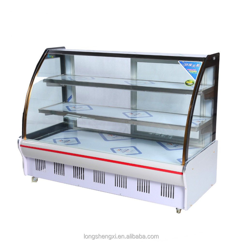 Super general deep freezer for vegetable and fruit with arc glass door