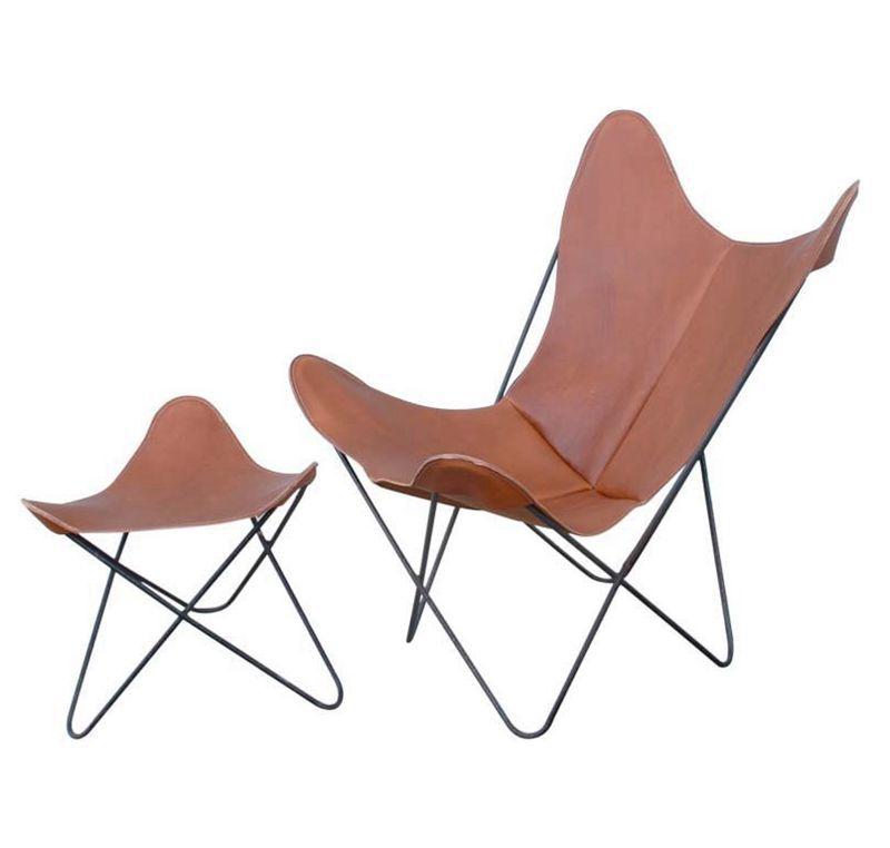 Bkf klapstoel metalen vlinder stoel met solid stalen for Stoel metalen frame