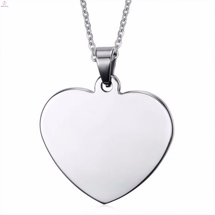 Wholesale stainless steel sublimation blanks pendants jewelry