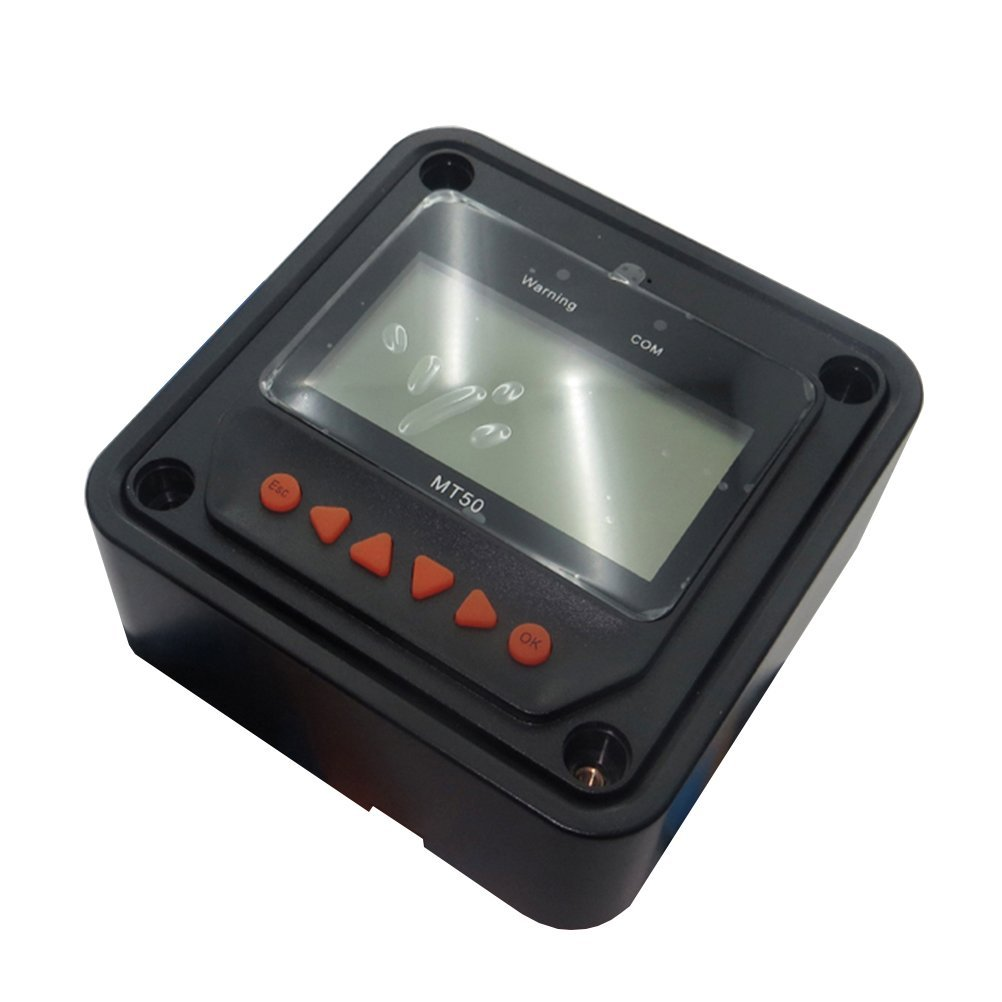 Dig Dog Bone Black MT-50 Remote Meter With LCD Display Suitable for Tracer BN series MPPT Charge Controller (Black)
