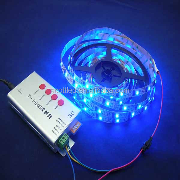 High Quality ws2801 led strip full color;5V ;IP 20 ;32Pixel Control 32 LED;high brightness 5050 smd rgb led strip ws2801