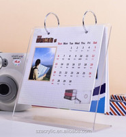 custom promotion acrylic desk calendar