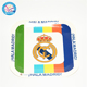 "Mixed- color 7""/9"" football fans birthday baby shower kids favors Madrid disposable party supplies square paper dishes"