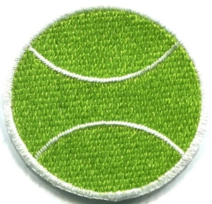Hot Sale Heat Transfer Embroidered Patches Tennis Embroidery Patch Of Ball