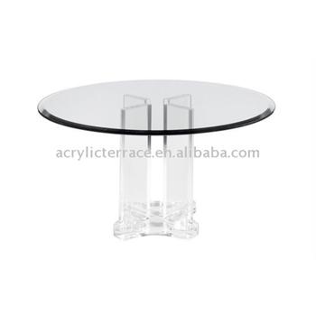 ACRYLIC,LUCITE ALMA ATA DINING BASE No:6254,acrylic Dining Table