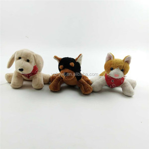 wholesale custom kids animal sound boo the dog plush toy