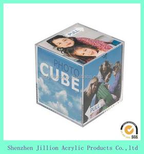acrylic cube photo frame Cube box Photograph paper picture frame