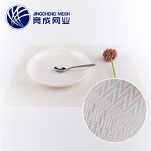Wholesale heated blank woven pet restaurant japanese plastic cup pvc paper placemats for dining table