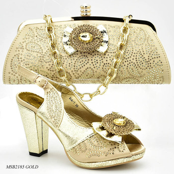 493380d62f58c Latest gold Italian Shoes with Matching Bags for Wedding Italy Italian  Matching Shoe and Bag Set
