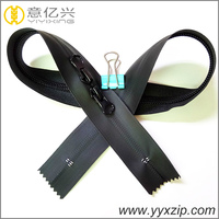 Two sided O type double way close zips closed end double slider zippers