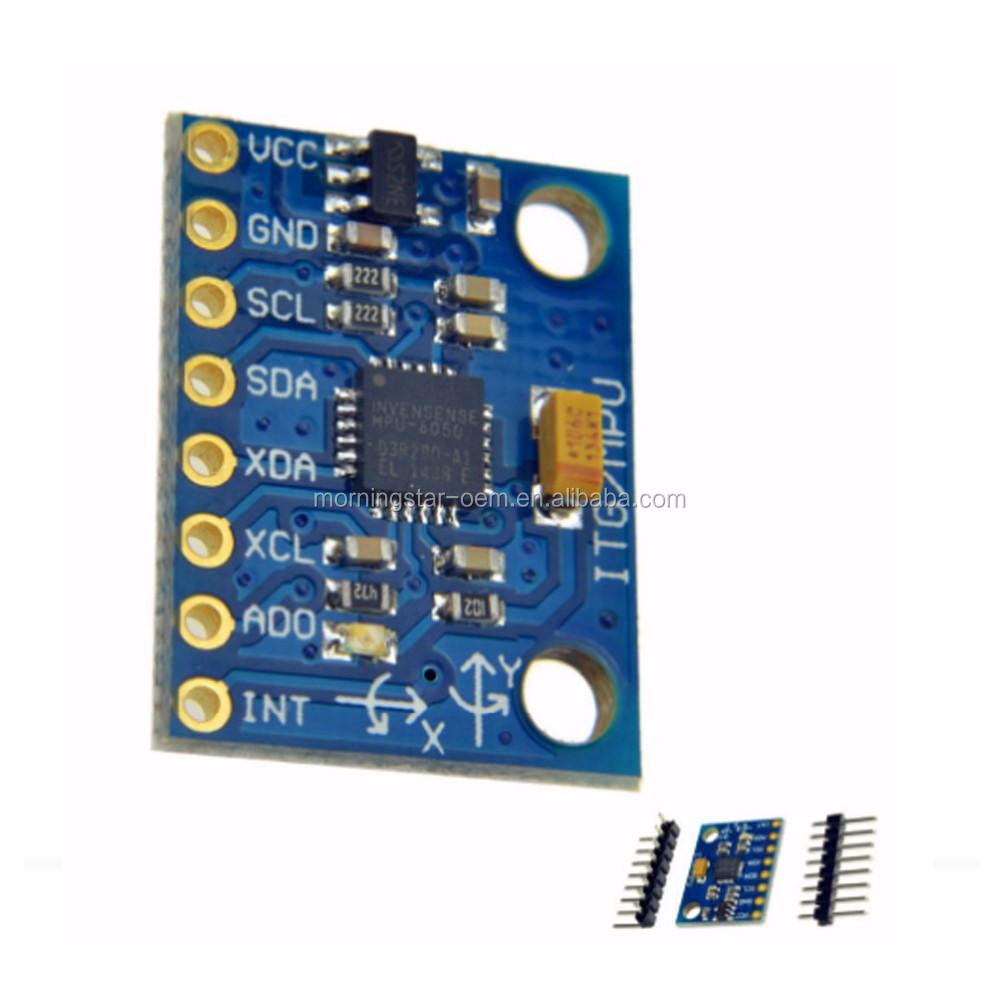 Iic I2c Gy-521 Mpu-6050 Mpu6050 3 Axis Analog Gyroscope Sensors + 3 Axis  Accelerometer Module For With Pins 3-5v Dc - Buy Iic I2c Gy-521 Mpu-6050