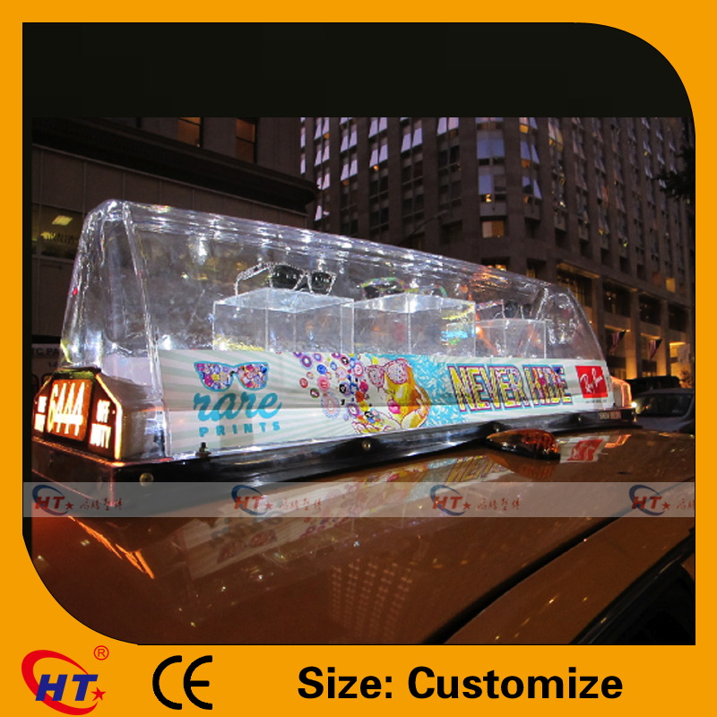 Transparent High Quality Taxi Top Advertising