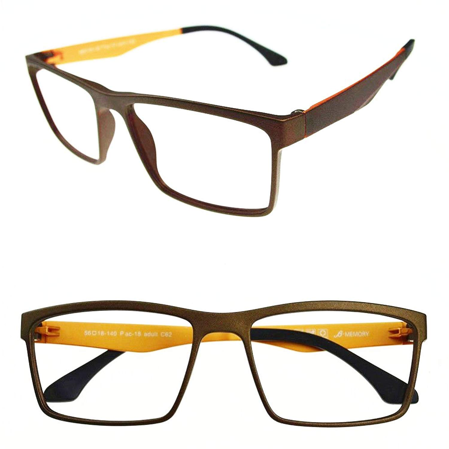 edbf73160fd Get Quotations · Agstum Mens Ultem Flexible Optical Eyeglasses Frame Myopia  Glasses Rxable