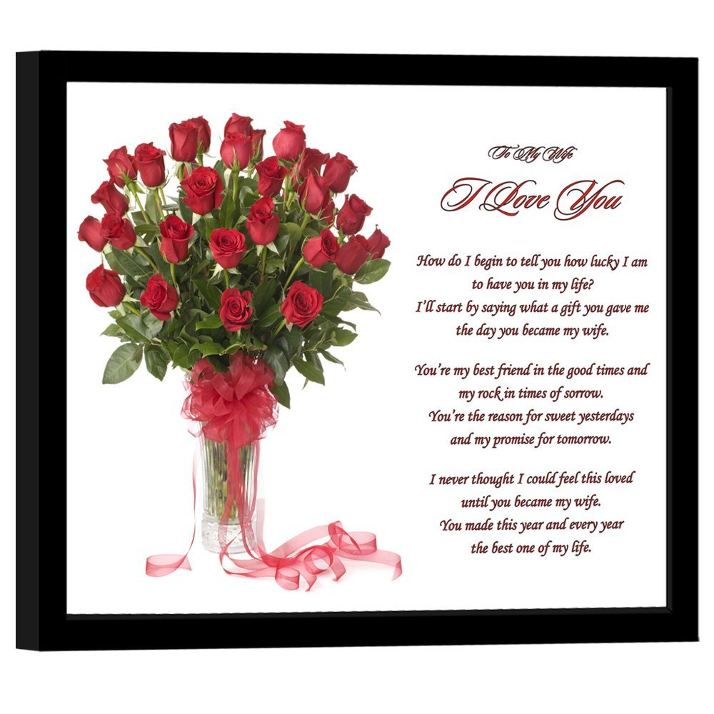 To My Wife Anniversary Christmas Or Birthday I Love You Gift Sweet
