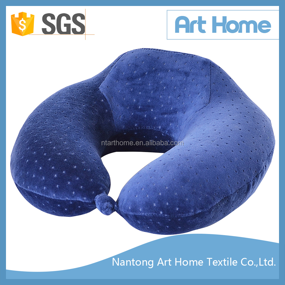 High quality velvet cover memory foam pillow travelling