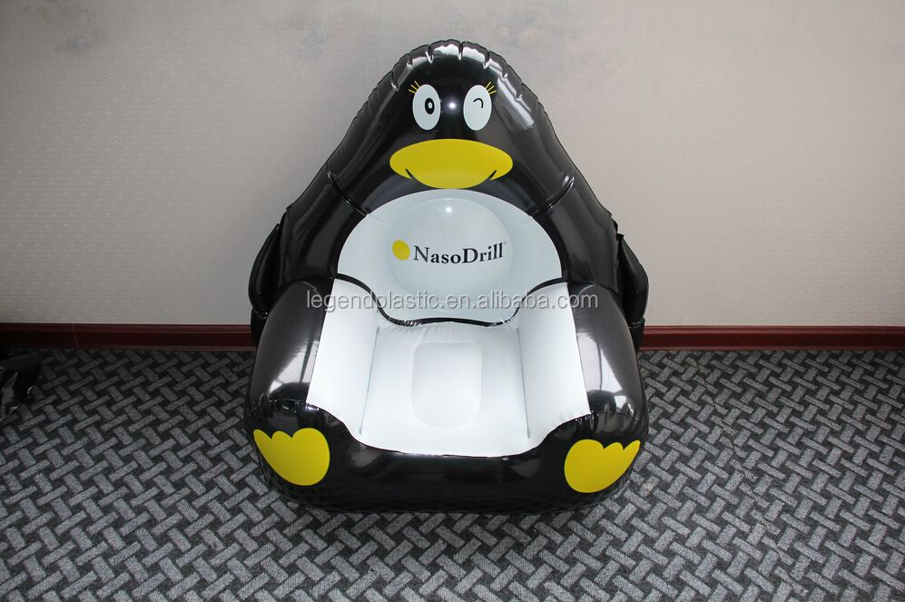 Eco-friendly Inflatable penguin sofa chair for kids