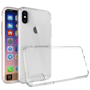 WINTOP clear cover transparent hard pc back soft tpu edge protective mobile phone case for iPhone X/Xs/Xr/Xs Max