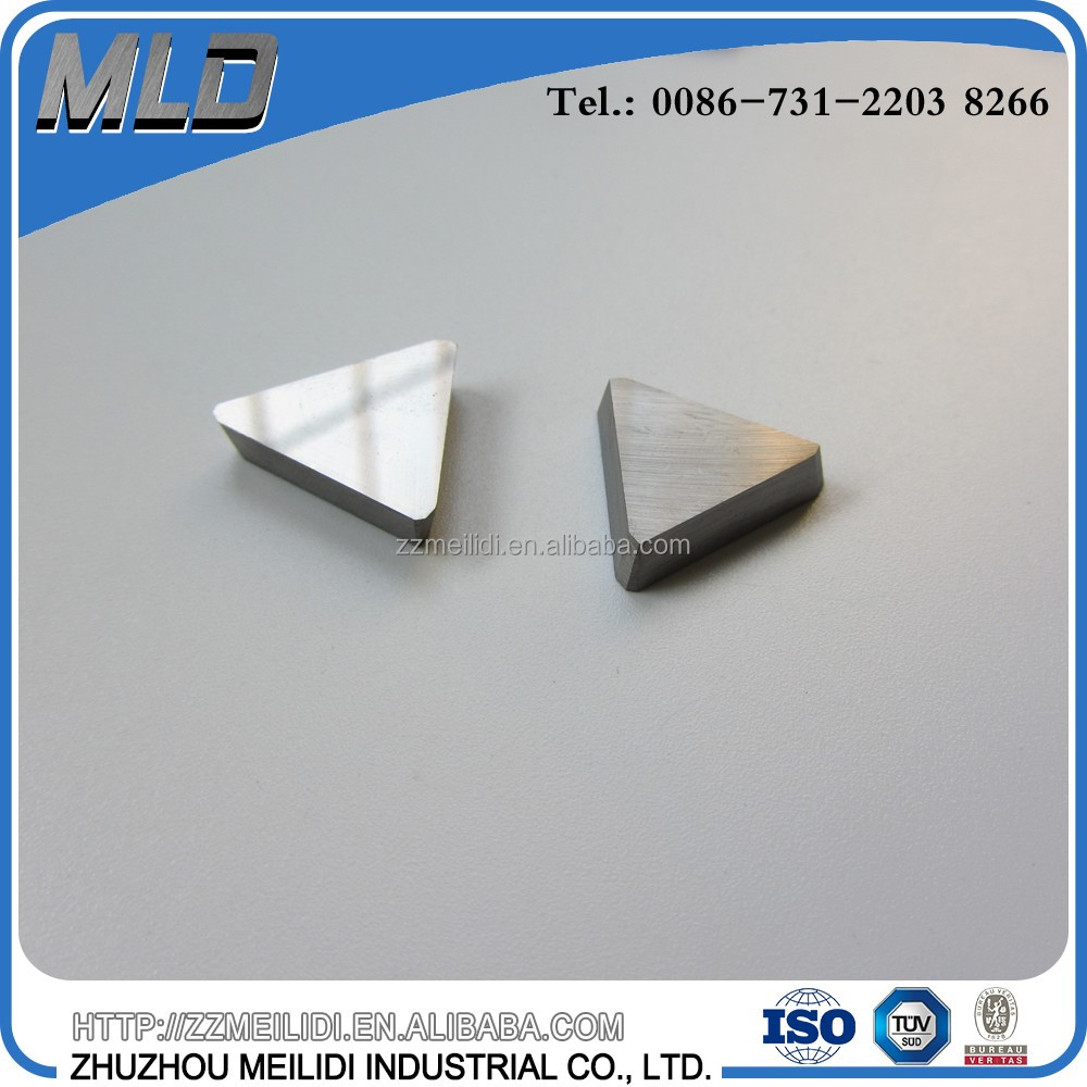YW1 Cemented Carbide Inserts Cutter Tip 5 Pieces for CNC Milling Silver