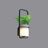 Restaurant Lighting Decoration Water Planting Small Hanging Hydroponic Sconce Led Wall Lamp Lighting