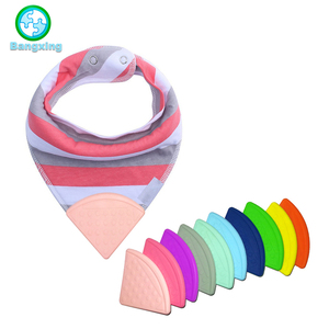 Custom BPA Free Food Grade Baby Bib Silicone Corner Teether