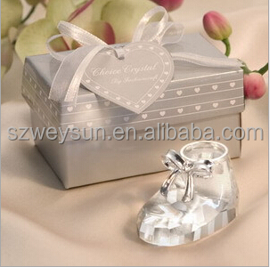 baby shower party favor gift and giveaways for guest--Crystal Cute Princess Baby Shoes party souvenir