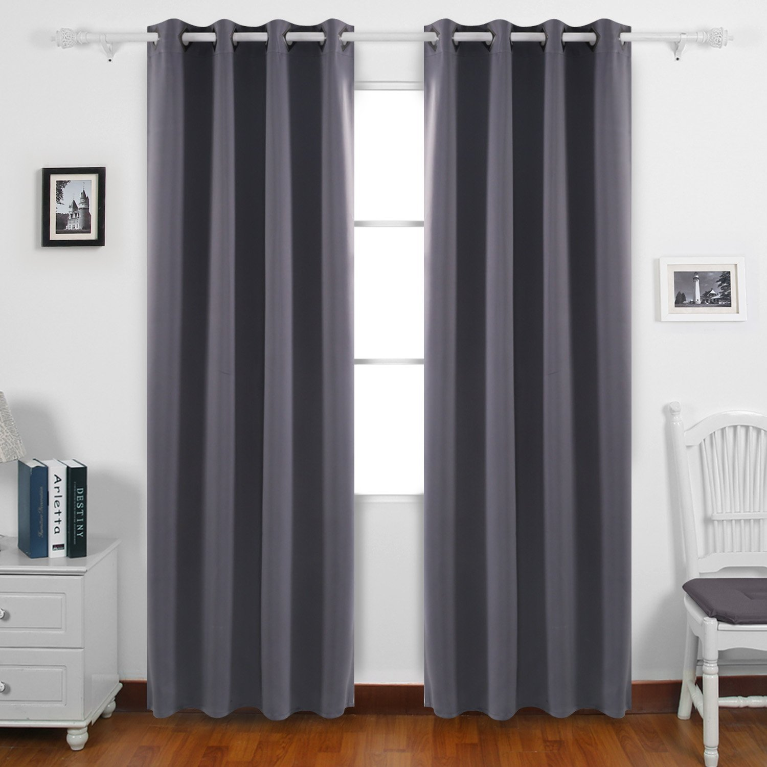 Get Quotations Deconovo Home Decorative Room Darkening Curtains With Grommet Thermal Insulated Blackout For Living 52W