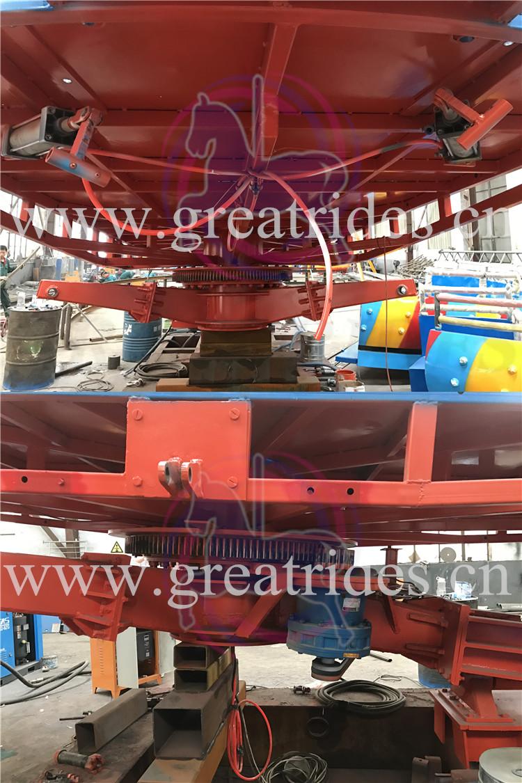 Hot item parque temático de diversões atração 24 40 assentos assentos rotating disco turntable tagada passeio para venda