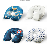 New high quality U-Shape inflatable Travel neck Pillow for Airplane and train