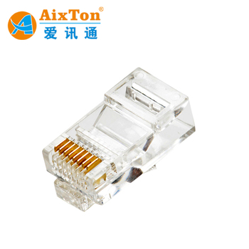 ethernet cat6 cat5 cat5e crimp rj11 rj45 connector stranded network cable  terminal 8p8c gold plated modular