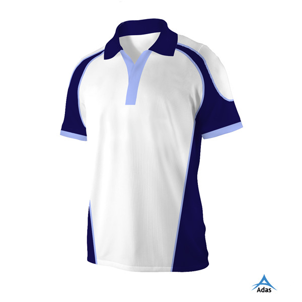 team set sublimated polo collar custom rugby jersey for man