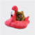 Cute Flamingo Cat Bed Sofa Large Size,Pet Cave Soft Cat Cuddle Bed, Lovely Pet Supplies for Cats Kittens,Pink