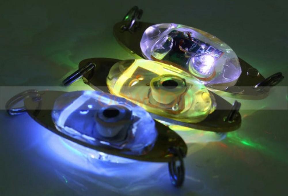 Couleur Flash Deep Drop Underwater Eye Shape Fishing Squid poisson appât lumière rouge