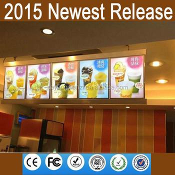 2015 new illuminated sign led lighted drink cafe menu board - Flat Panel Cafe 2015