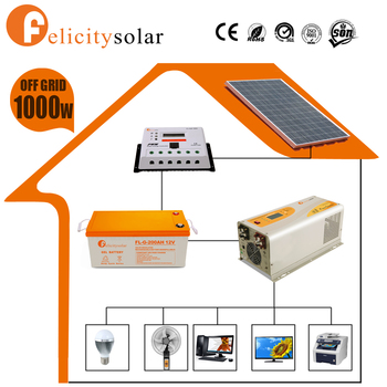 Solar powered kit fotovoltaico 1000w with certificate