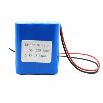 High capacity rechargeable 1S6P 18650 3.7V  2500mah 15000mah 15ah lithium li ion li-ion battery pack
