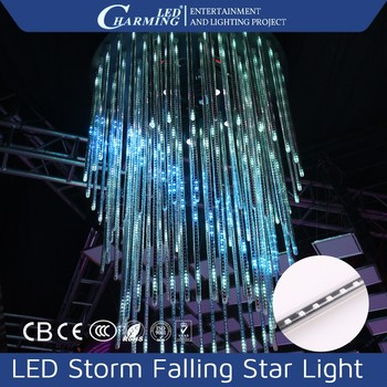 led crystal ceiling falling tube light falling star led christmas lights