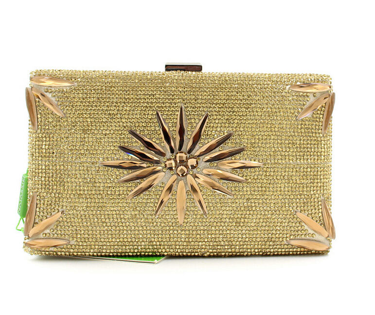 1b9c3e5ac583 Get Quotations · Gold Silver Small Party Valentine Bags 2015 Luxury Clutch  Flowers Rhinestone Evening Bags Formal Dress Women