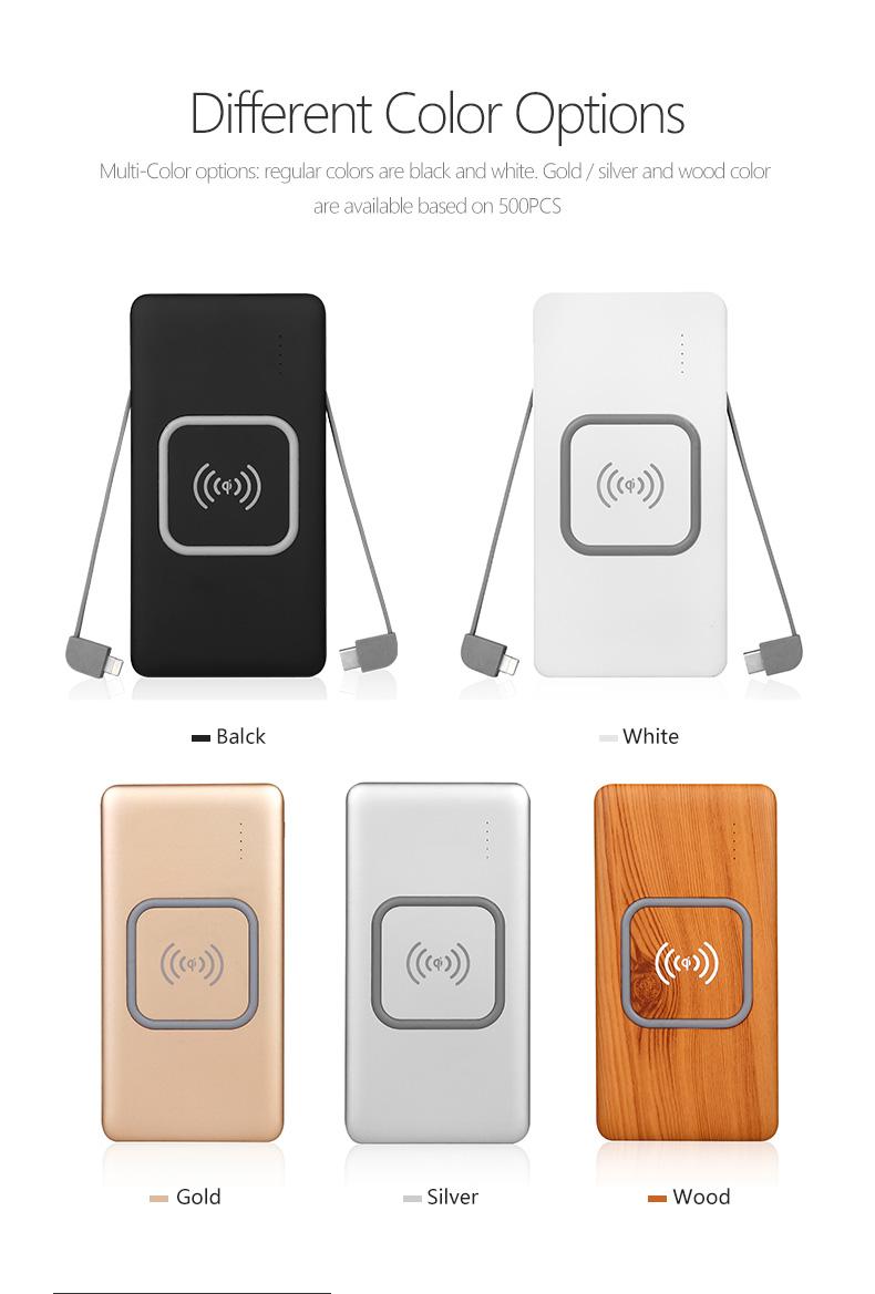 Consumentenelektronica Bulk Kopen Bank Ingebouwde Kabel Mobiele Lader Power Bank 10000 Mah