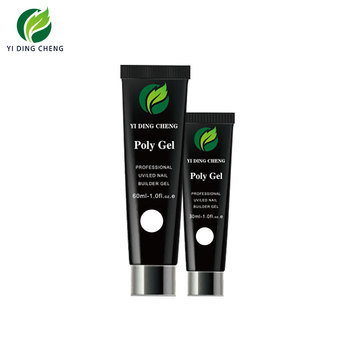 Guangzhou Yidingcheng nail gel polish factory Poly gel tube 30ml, 60ml, free samples can provide