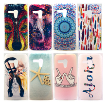 Wolf Elephant Flower Feather Hot Lady Starfish Pattern Hard Plastic Cover Case for Motorola Moto G