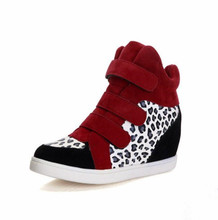 cy10840a Fashion women shoes high top height increasing shoes hidden wedge heel shoes