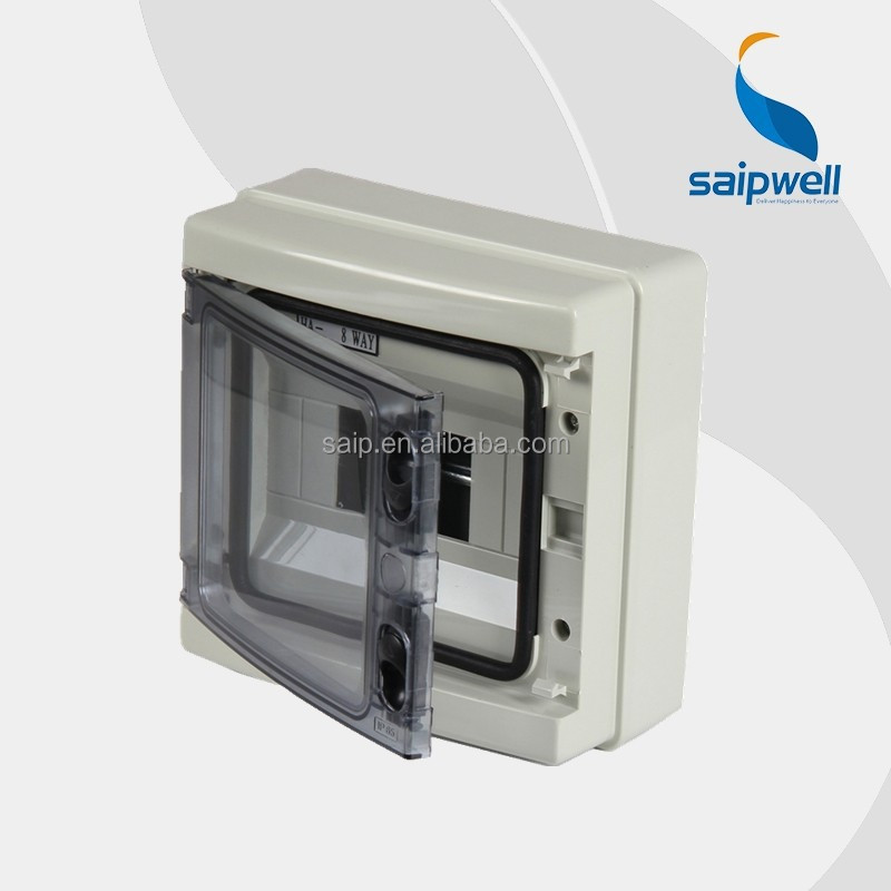 Waterproof IP65 electrical plastic circuit breaker box ( SHA-8 way)