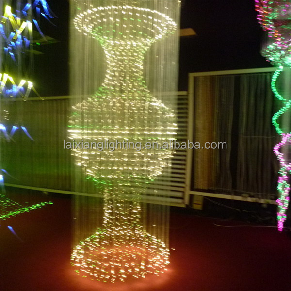 Colour Change Optic Chandelier With Remote Controller,Red Fiber ...