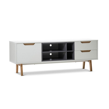 Nordic modern high gloss white tv stand