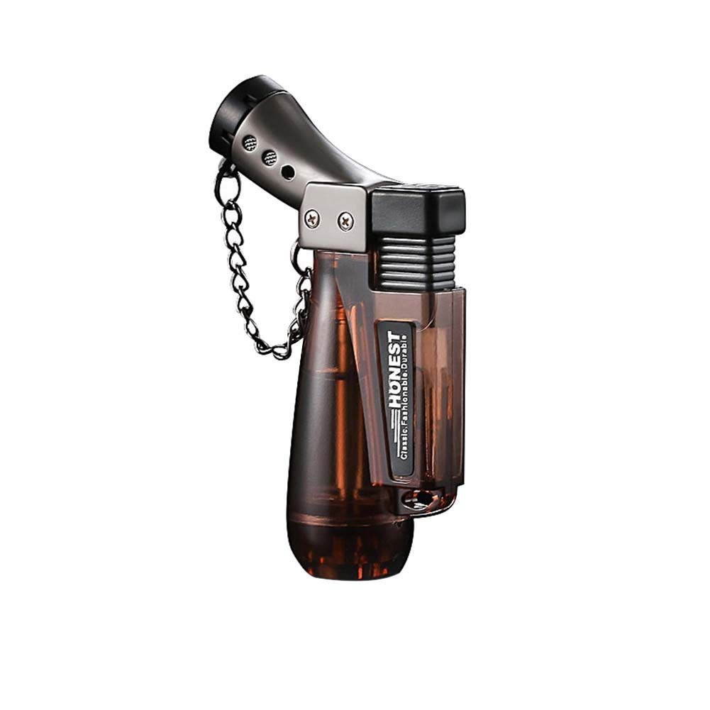 Yinrunx Windproof Butane Cigar Lighter Torch Refillable Oil Barbecue BBQ lighter Random Color NO GAS