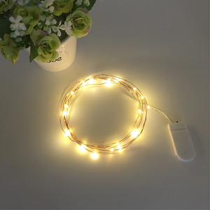 Custom Made Home Decoration Diy Button Battery Operated Led Holiday Mini Copper Wire Fairy Lights For Holiday