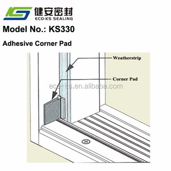 Coner Pad Wedge/kerf Weatherstripping Used In Kerfed Jamb For Timber Door  Qlon Seal - Buy Weatherstrip,Corner Pad,Kerfed Seal Product on Alibaba com