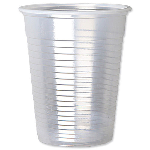 White Plastic Disposable Water Cups Drinking Glass Vending Machine Style 7oz Cup