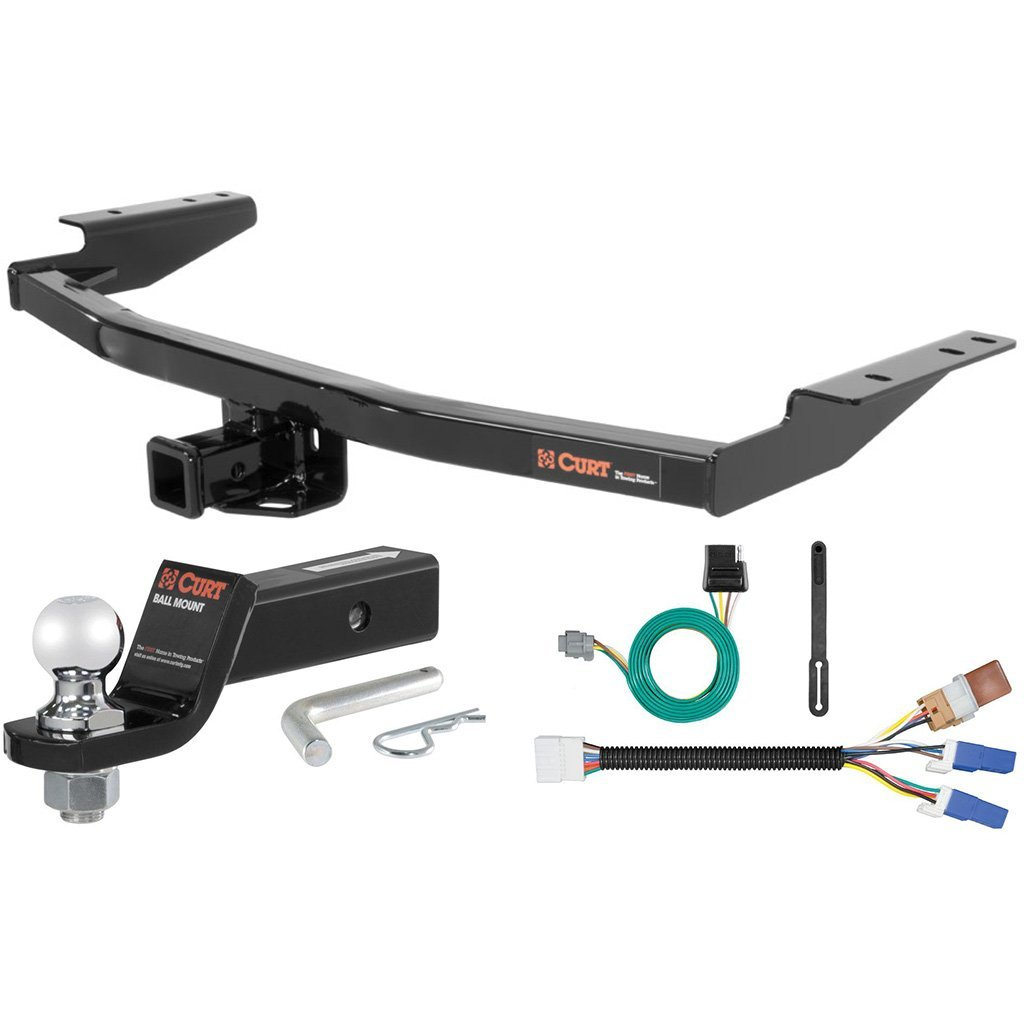 """CURT Class 3 Hitch Tow Package with 2"""" Ball for Infiniti QX60, Nissan Pathfinder"""